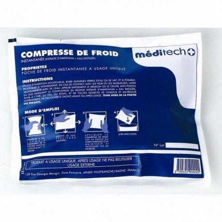 COMPRESSE DE FROID COLD PACK EGT