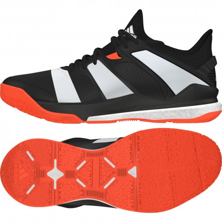 newest los angeles official site Chaussure HANDBALL Homme STABIL X ADIDAS Noir/Blanc/Orange