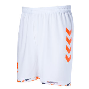 CPGN SHORT HUMMEL Blanc/Orange Fluo