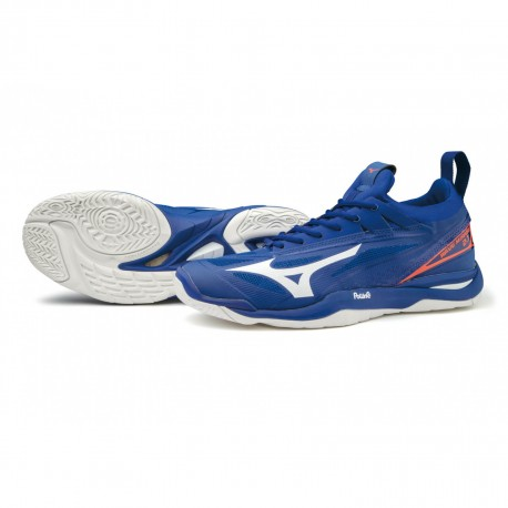 Chaussures HANDBALL Homme MIRAGE 2.1 MIZUNO Royal/Blanc/Orange